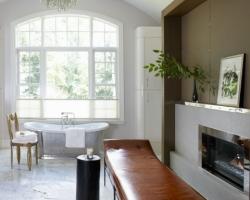ديكور حمام مع مدفئة