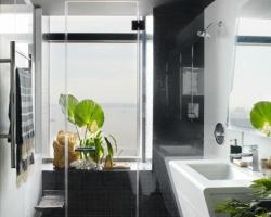 ديكور حمام اسود