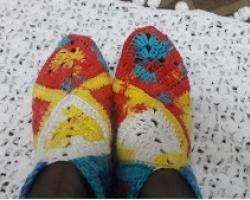 حذاء كروشيه