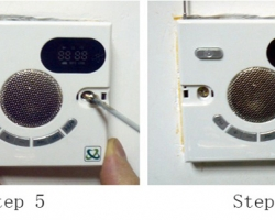 فيش الراديوعلى شكل فيش كهربائي يركب بدل فيش الكهرباء بدون مش