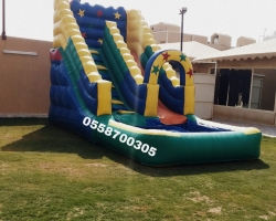 إيجار ملعب صابوني زحليقات نطيطات الرياض